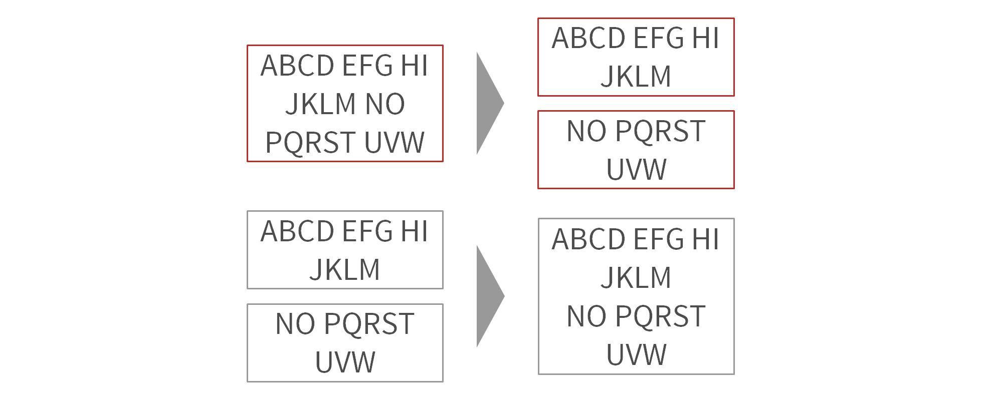 Split | Merge Text Boxes